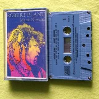 ROBERT PLANT. (LED ZEPPELIN LEAD VOCALIST) manic nirvana. Cassette tape not vinyl record
