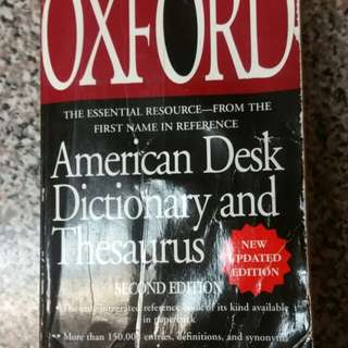 The Oxford American Desk Dictionary and Thesaurus Second Edition Book