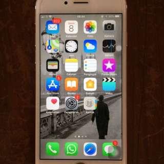 Iphone 6 16gb gold dijamin mulus n normal semua