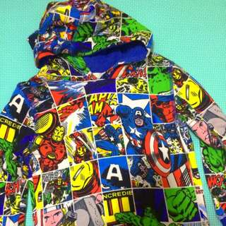 H&M Marvel Hoodie 2-4 Years Old