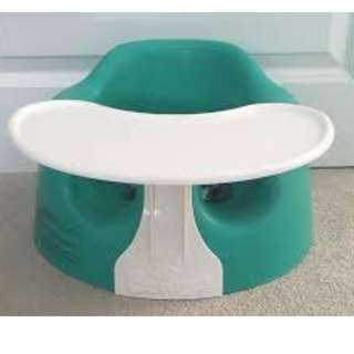 Teal Green Bumbo Seat with Tray
