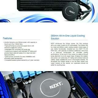 NZXT Kraken X60 280mm Aio cooler