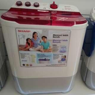 Mesin Cuci Sharp 2 Tabung Bisa Dicicil Cukup Membayar 199.000