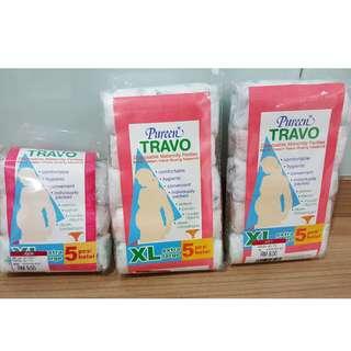Pureen Disposable Maternity Panties XL size Free 3pcs Milk Storage Bag 12ozs