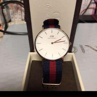 日本 Daniel Wellington/ Classic 36mm  男女時款手錶  9成新  (日本寄出)