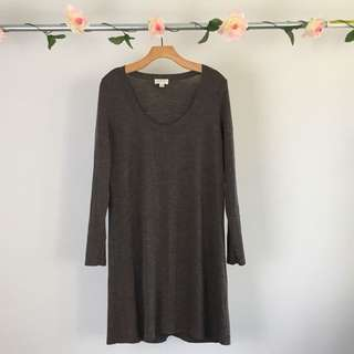 Brown Witchery Scoop Neck Dress