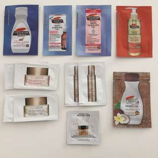 Palmer's Body Shop Kiehl's Biotherm Shu Uemura Ascience Physiogel Essential Derma Veen Samples