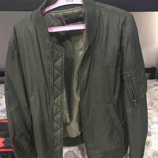 Uniqlo olive bomber jacket