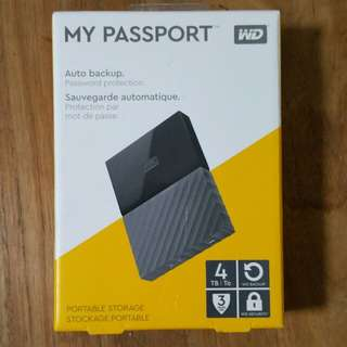WD My Passport 4TB New WD 4TB Portable HDD Hard Disk Drive My Passport 4.0 TB external Western Digital 2.5""