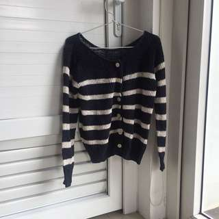 Navy Knitted Cardigan