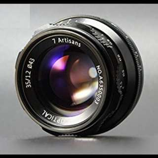 7Artisans 35mm F1.2 APS-C lens for Sony E-Mount