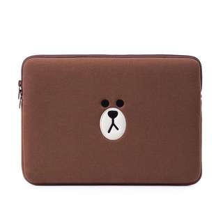 "LINE Friends Brown 🐻 14"" Laptop Sleeve/Bag"