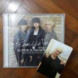 Super junior Kry promise you japanese cd w yesung pc