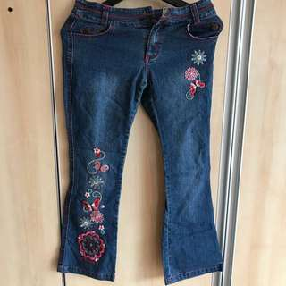 Disney Flower Jeans ( Size 12 )