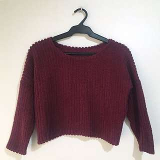 Cropped Wool Sweater (No brand from Bangkok)