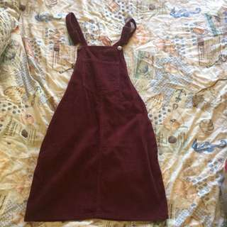 Overall Cord Dress