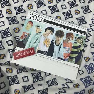 NCT unofficial calendar and BTS unofficial nametag