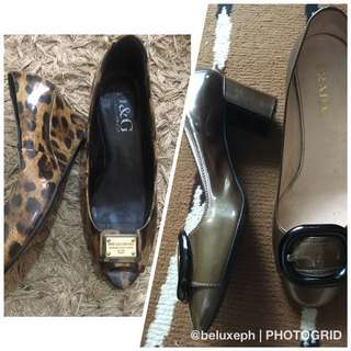 Authentic shoe bundle prada and dolce gabbana