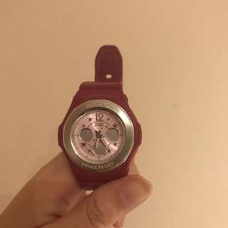 Casio Baby G Shock watch in pink