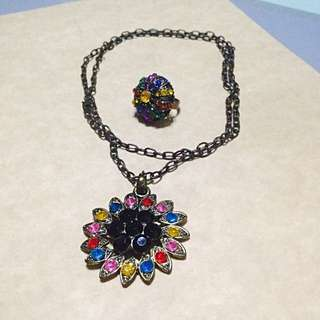 Vintage necklace and ring set
