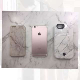 iPhone 6s Rose Gold With Cases!