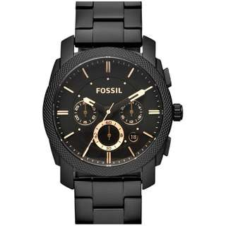 Fossil Machine Chronograph Black Dial Watch - FS4682