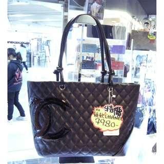 Chanel CC Logo Black Leather Cambon Shoulder Hand Bag Cam Bon 香奈兒 黑色 皮革 真皮 經典款 手挽袋 手袋 肩袋 袋