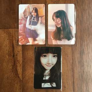 [New Year Sales!] Gfriend Yerin Snowflake and Flower Bud Photocards