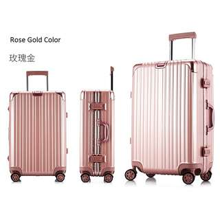 Rose Gold Rimowa Limbo Look alike Luggage Bag