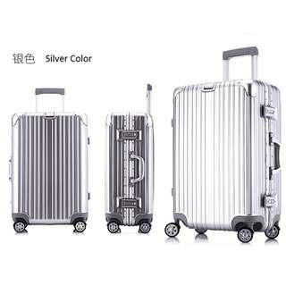 Silver Rimowa Limbo Look alike Luggage Bag