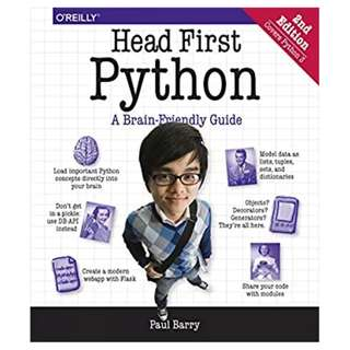Head First Python: A Brain-Friendly Guide 2nd Edition BY  Paul Barry