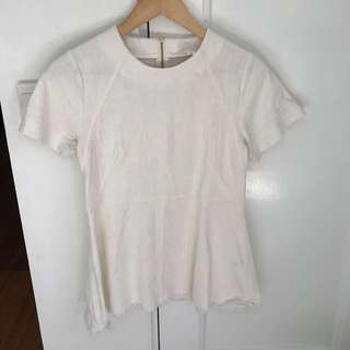 Seed white a-line top