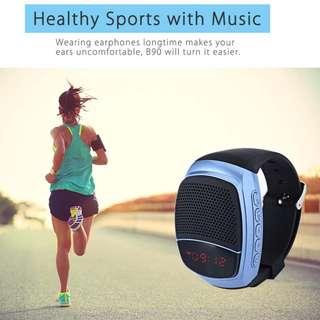 B90 Bluetooth Sports Music Watch Portable Mini Bluetooth Watch Speaker For iphone Xiaomi Samsung TF FM Radio Handsfree Speaker