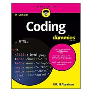 Coding For Dummies (For Dummies (Computer/Tech)) BY Nikhil Abraham