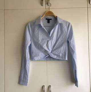 F21 Baby blue top NEW