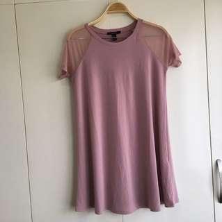 Pink casual dress F21 NEW