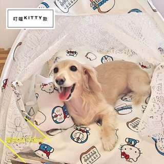 [叮噹kitty款]XL號 含內枕 寵物帳篷/寵物床/寵物窩
