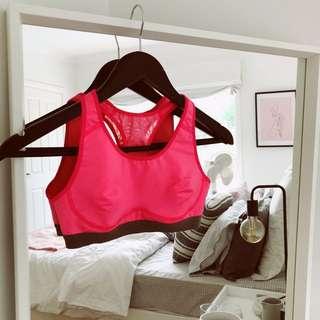 Nike crop top pink