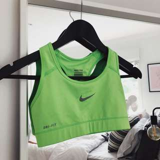 Nike crop top green