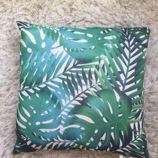 Green jungle pillow