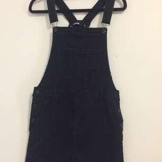 Dangerfield Black Denim Pinafore Dress Size Small / 8 / S