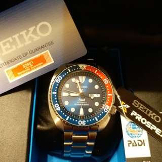 SEIKO PADI SRPA21K1 (行貨有保養) 99.99%新 精工鮑魚 自動錶百事圈特別版