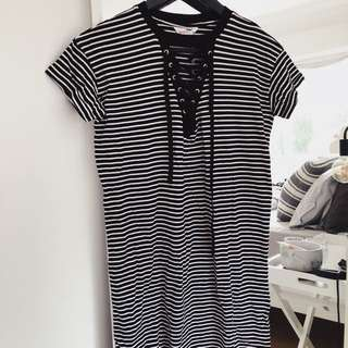 T shirt dress stripe
