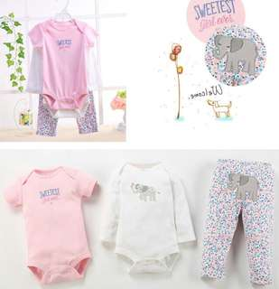 Sweetest Girl Ever 3 in 1 Romper Set