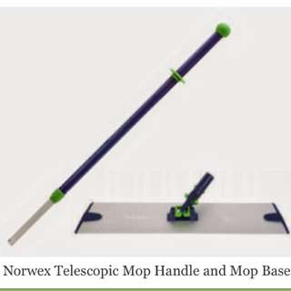 Norwex mop handle base dry superior and tile pads