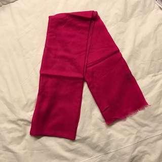 Pink fuchsia pashmina wool scarf  - 70 cm x 200 cm