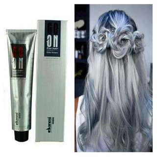 Permanent Hair Dyed Color Ash Grey