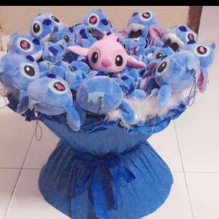 Stitch Plushie Rose Bouquet Flower for Gifts Valentines Day Gifts (20 set of Stitch Plushie)