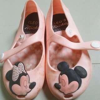 Sepatu jelly minny mouse