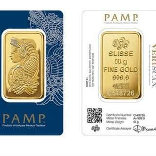 50G 999.9 Gold